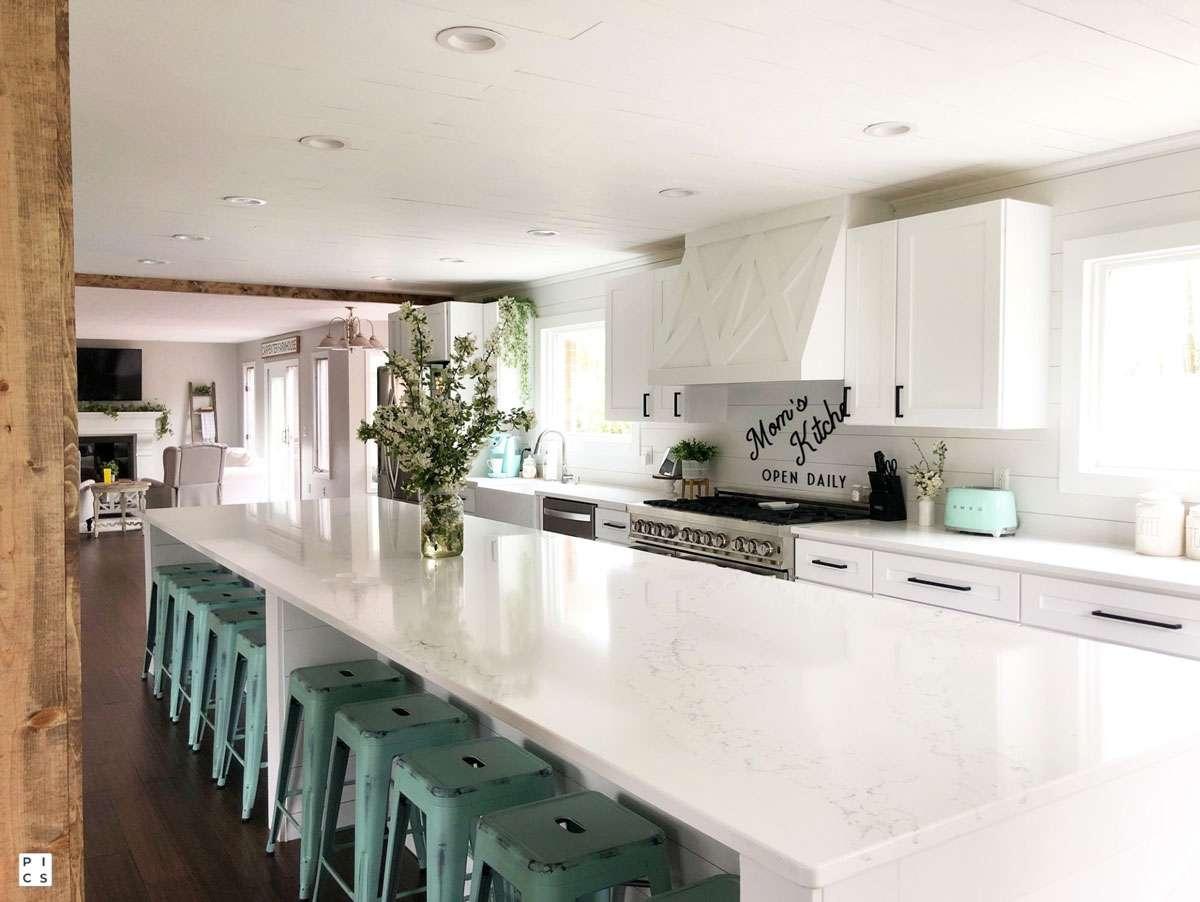 Hanson Quartz Kitchen and Cabinets