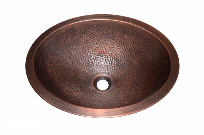 Copper Sink - Dimensions: L 17-3/4 in. x W 13-3/4 in. x D 6 in.