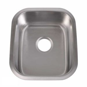 Stainless Steel Kitchen Sink 109 - Dimensions: L 16-1/2 in. x W 18-1/2 in. x D 9 in.