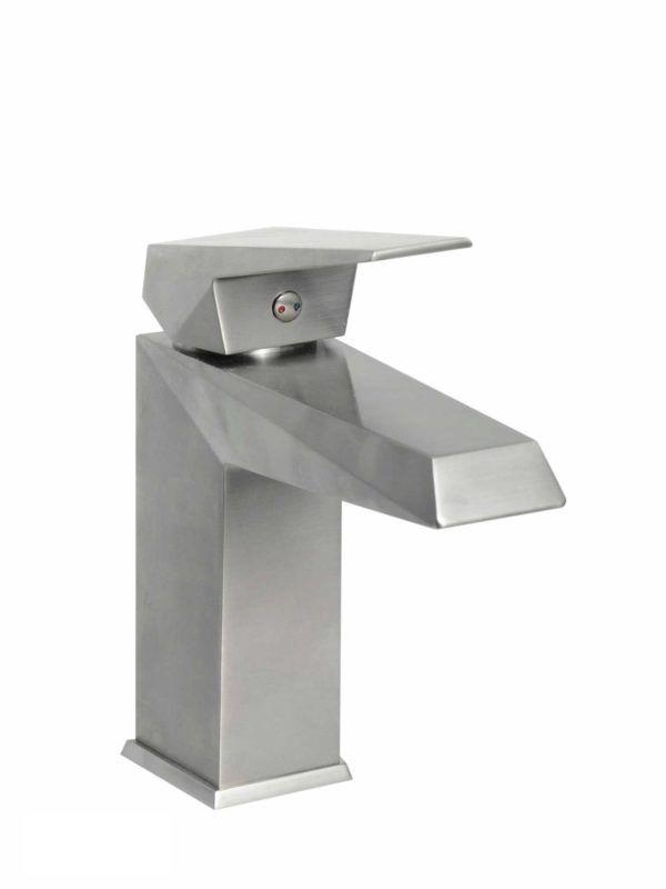 Contemporary Bathroom Vessel Faucet 111BN - Dimensions: H 7 X 7 1/2 in.