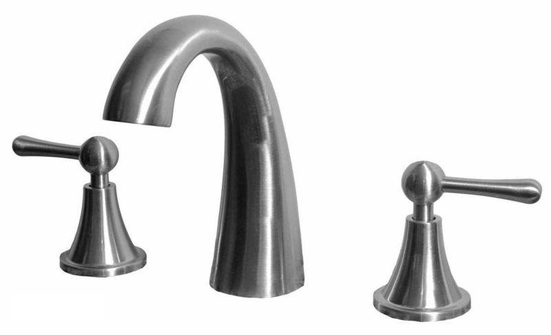 Bathroom Vanity Faucet 11585M_Brushed Nickel - Dimensions: H 6 in.