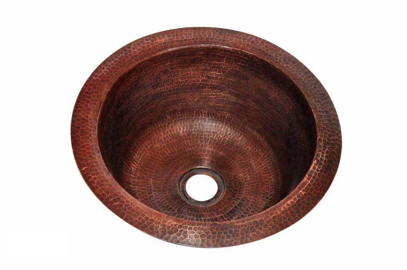 Copper Kitchen Sink 1327_H - Radius: 17 in. x D 6 in.