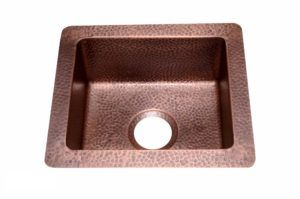 Copper Kitchen Sink 1412_RR - Dimensions: outside L 16 in. x W 14 in. x D 6 in. inside L 13 in. x W 11 in. x D 6 in.