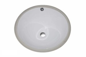 Ceramic Bathroom Sink 1609 - Dimensions: L 17 1/2 in. x W 17 1/2 in. x D 6 in.