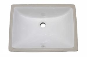 Ceramic Bathroom Sink 1628 - Dimensions: L 18 in. x W 13 in. x D 7 in.