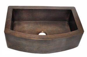 Copper Kitchen Sink 1652_F - Dimensions: L 33 in. x W 22-1/2 in. x D 9-1/2 in.