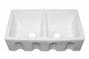 Ceramic Kitchen Farm Sink 1906_1 - Dimensions: L 33 in. x W 20 in. x D 8-1/2 in.