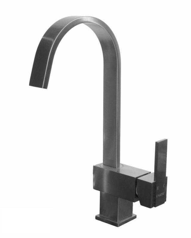 Bathroom Vessel Faucet 20070074_Brushed Nickel - Dimensions: H 8 X 5 in.