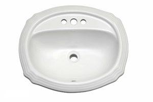 Ceramic Bathroom Sink 2319 - Dimensions: L 23-1/16 in. x W 19-5/16 in. x D 6-11/16 in.
