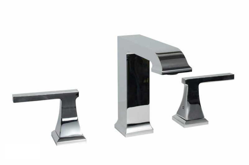 Contemporary Bathroom Vanity Faucet 413CH8 - Dimensions: H 6 in. x W 6-3/4 in.