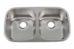 Stainless Steel Kitchen Sink 702 - Dimensions: L 32-1/2 in. x W 18 in. x D 9 in.