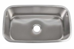 Stainless Steel Kitchen Sink 709 - Dimensions: L 31-1/2 in. x W 18 in. x D 10 in.