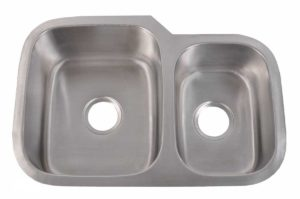 Stainless Steel Kitchen Sink 803 L - Left basin dimensions: L 27-1/8 in. x W 18-1/2 in. x D 8 / 7 in.