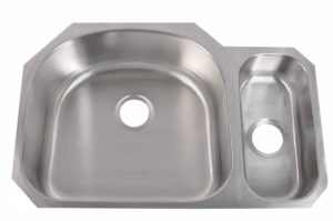 Left basin dimensions: L 31-3/4 in. x W 20-7/8 in. x D 9 / 5-1/2 in.