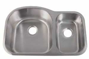 Stainless Steel Kitchen Sink 905 L - Left basin dimensions: L 31-1/2 in. x W 20-1/2 in. x D 9 / 7 in.