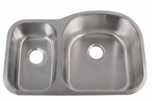 Stainless Steel Kitchen Sink 905 R - Right basin dimensions: L 31-1/2 in. x W 20-1/2 in. x D 7 / 9 in.