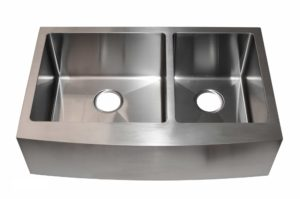 Stainless Steel Kitchen Sink AC2002 Gun Metal Color - Dimensions: L 33 in. x W 20-3/4 in. x D 10 in.