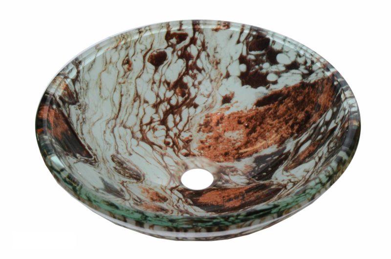 Glass Vessel Bathroom Sink CH9014 - Radius: L 16 in. x D 5-1/2 in.