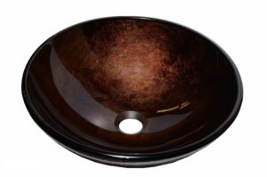 Glass Vessel Bathroom Sink CH9052 - Radius: L 16 in. x D 5-1/2 in.