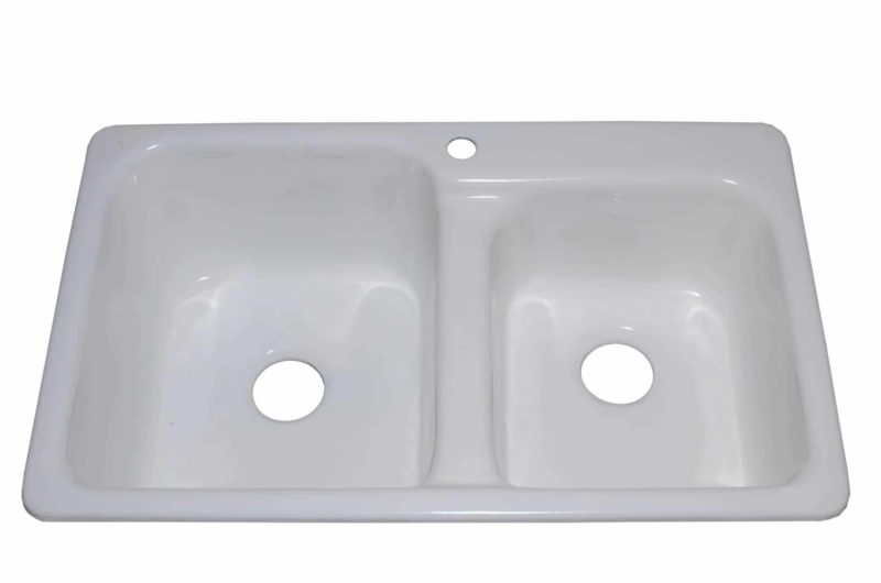 Cast Iron Kitchen Sink CI1409602 - Dimensions: L 36 in. x W 22 in. x D 10-1/2 / 8 1/2in.