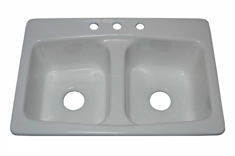 Cast Iron Kitchen Sink CI4110 - Dimensions: L 33 in. x W 22 in. x D 9 in.