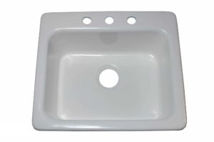 Cast Iron Kitchen Sink CI8210 - Dimensions: L 25 in. x W 22 in. x D 9 in.
