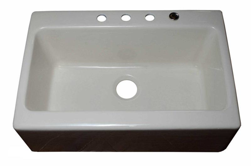 Cast Iron Kitchen Sink CI9354 - Dimensions: L 33 in. x W 22in. x D 10-1/2 in.