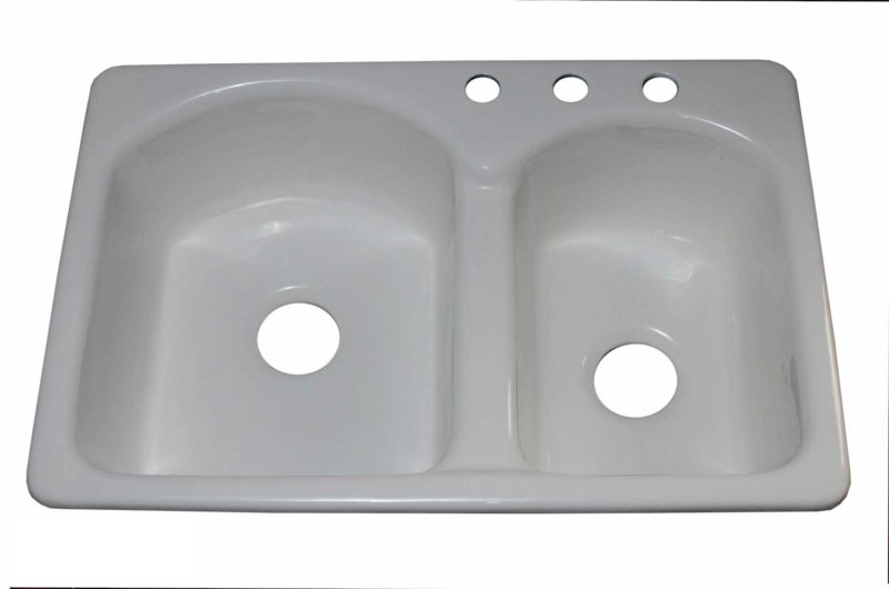 Cast Iron Kitchen Sink CI9603 - Dimensions: L 33 in. x W 22 in. x D 9 in.