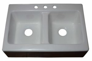 Cast Iron Kitchen Sink CI9675 -Dimensions: L 33 in. x W 22 in. x D 9 in.