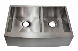 Stainless Steel Kitchen Sink EFD3320 - Dimensions: L 33 in. x W 20 in. x D 10 in.