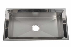 Stainless Steel Kitchen Sink EKS3318 - Dimensions: L 33 in. x W 18 in. x D 10 in.