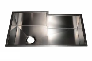 Stainless Steel Kitchen Sink HA213 - Dimensions: L 34 in. x W 20 in. x D 10 in.