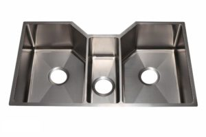Stainless Steel Kitchen Sink HA331 - Dimensions: L 34-1/2 in. x W 20 in. x D 9 in.