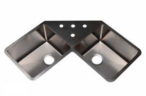 Stainless Steel Kitchen Sink HA334 - Dimensions: L 35 in. x W 22-3/4 in. x D 10 in.