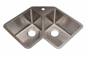 Stainless Steel Kitchen Sink HA347 - Dimensions: L 32-3/4 in. x W 22-3/4 in. x D 10 in.
