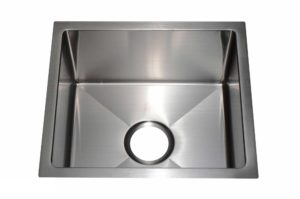 Stainless Steel Kitchen Sink HBB1517 - Dimensions: L 17 in. x W 15 in. x D 8-1/2 in.