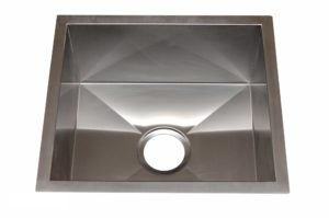 Stainless Steel Kitchen Sink HBB1816 - Dimensions: L 18 in. x W 16 in. x D 8-1/2 in.