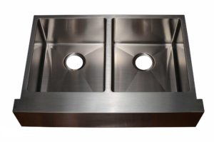Stainless Steel Kitchen Sink HFE3322 - Dimensions: L 33 in. x W 22 in. x D10 in.