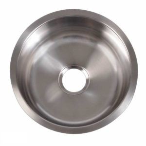 Stainless Steel Kitchen Sink R405 - Dimensions: Radius 16 in. x D 7 in.