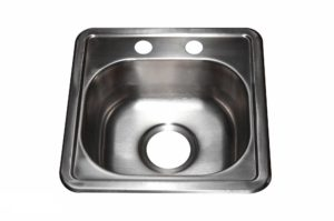 Stainless Steel Kitchen Sink T1212 - Dimensions: L 12 in. x W 12 in. x D 8 in.