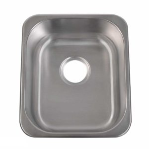 Stainless Steel Kitchen Sink T1517 - Dimensions: L 15 in. x W 17-3/8 in. x D 7 in.