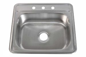 Stainless Steel Kitchen Sink T2522 - Dimensions: L 25 in. x W 22 in. x D 6/7/8/9 in.