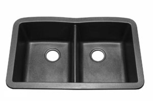 Granite Kitchen Sink US04 -Dimensions: L 32 in. x W 21 in. x D 9 in. Most composite sinks are available in White, Black, Brown, Grey & Jasmine colors.