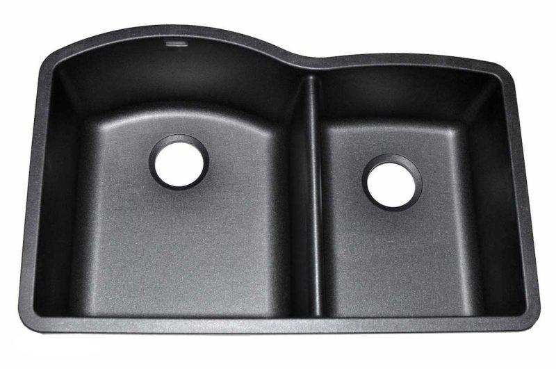 Granite Kitchen Sink US05 - Left basin dimensions: L 32 in. x W 21 in. x D 9 / 8 in.
