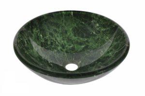 Glass Vessel Bathroom Sink Y69 - Radius: L 16 in. x D 5-1/2 in.