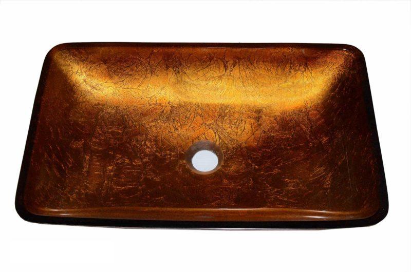 Glass Vessel Bathroom Sink YH3626 - Radius: L 16 in. x D 5-1/2 in.