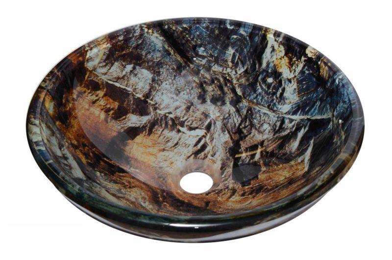 Glass Vessel Bathroom Sink YHD314 - Radius: L 16 in. x D 5-1/2 in.