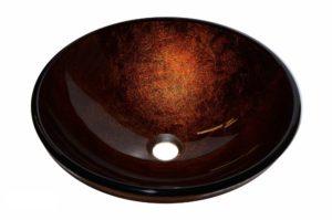 Glass Vessel Bathroom Sink YHH467 - Radius: L 16 in. x D 5-1/2 in.