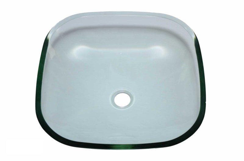 Glass Vessel Bathroom Sink YHT307 - Radius: L 16 in. x D 5-1/2 in.